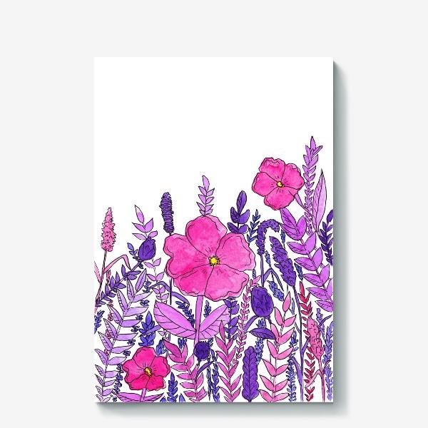 Холст «Розовые цветы»