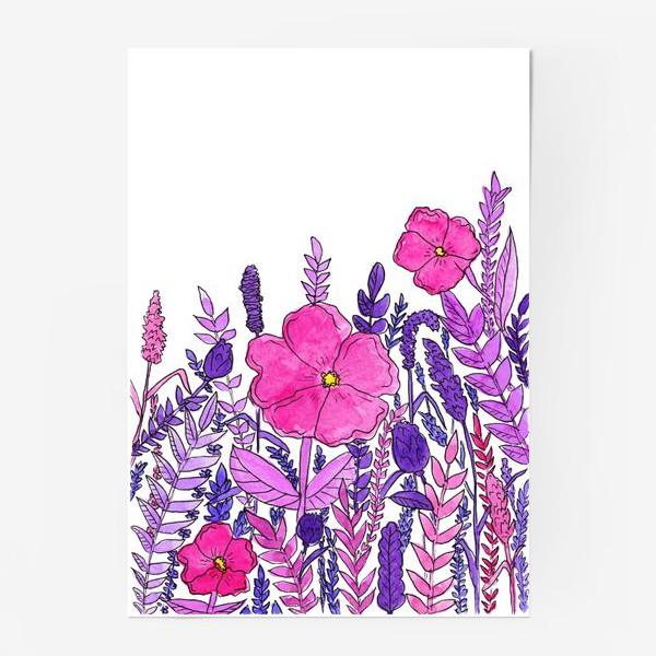 Постер «Розовые цветы»