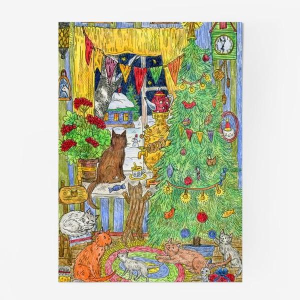 Постер «Новый год в избушке»