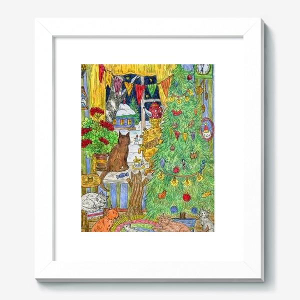 Картина «Новый год в избушке»