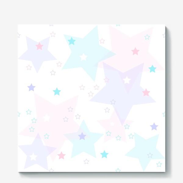 Холст «Нежные прозрачные звезды. Паттерн.»