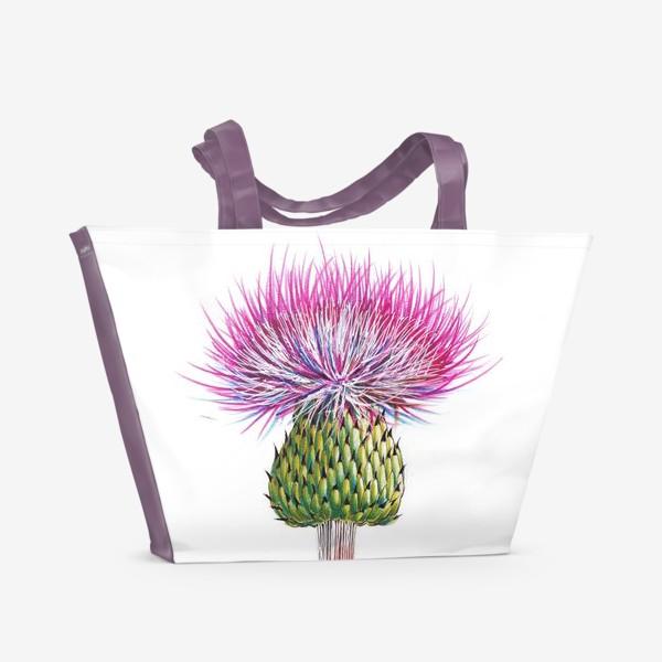Пляжная сумка «Цветок Чертополоха»