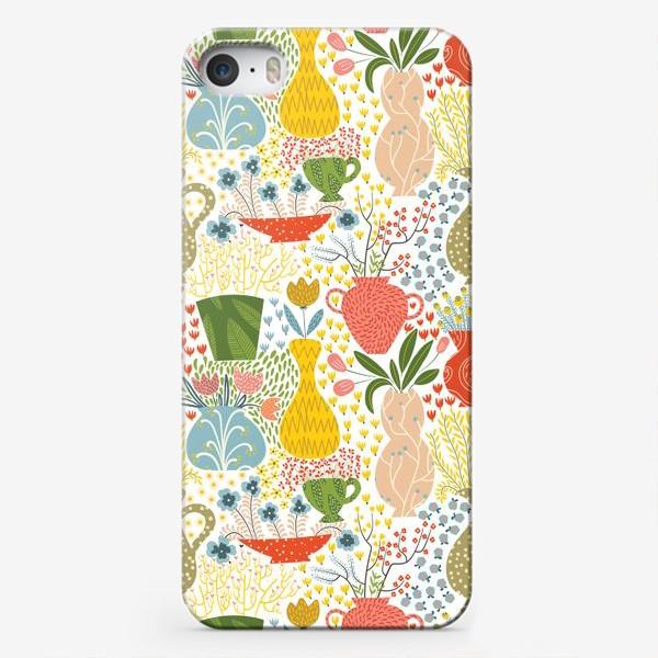 Чехол iPhone «Цветы в вазах»