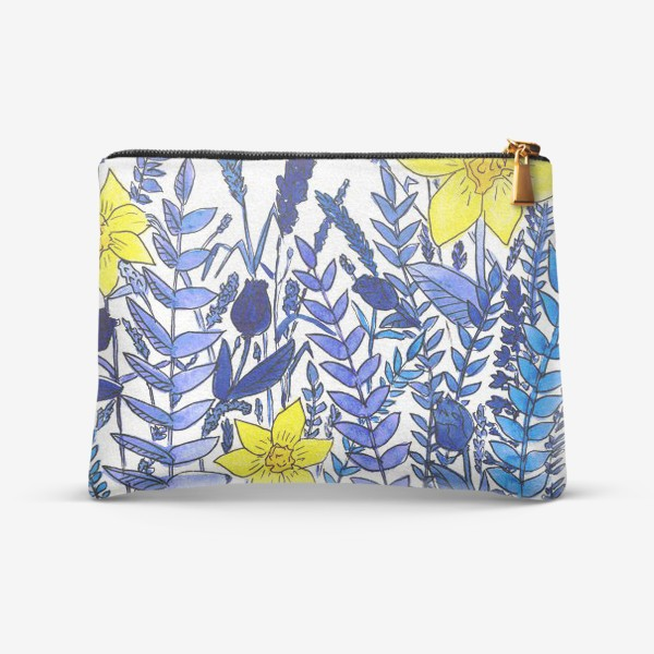 Косметичка «Нарциссы. Голубые растения»