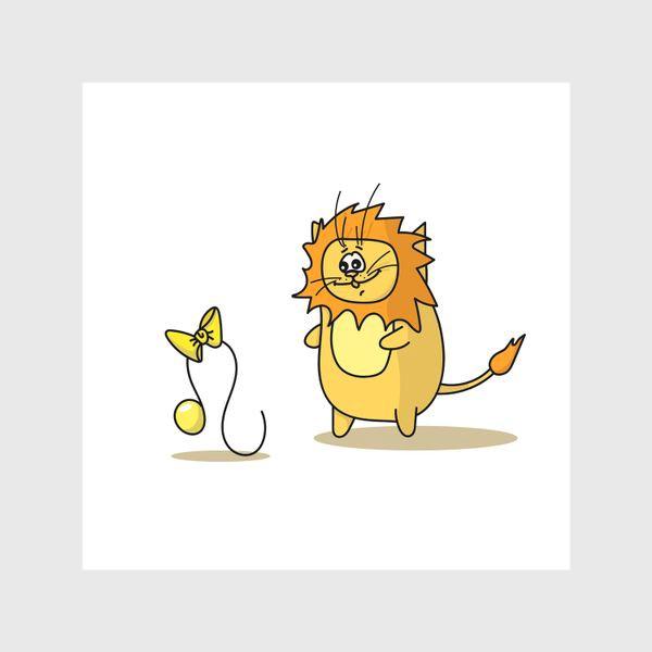 Шторы «Кот Лев.Подарок для Льва. Знак зодиака Лев»