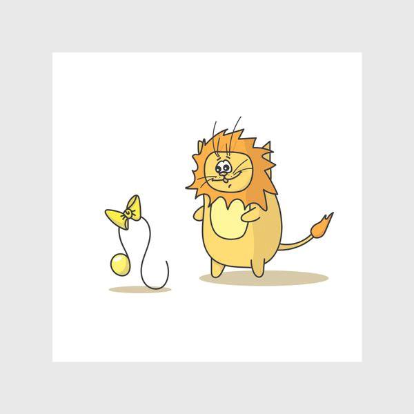 Скатерть «Кот Лев.Подарок для Льва. Знак зодиака Лев»