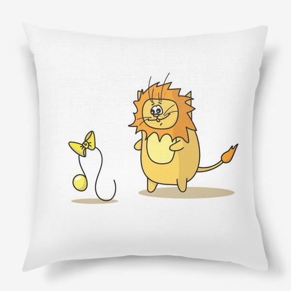 Подушка «Кот Лев.Подарок для Льва. Знак зодиака Лев»