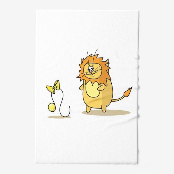 Полотенце «Кот Лев.Подарок для Льва. Знак зодиака Лев»