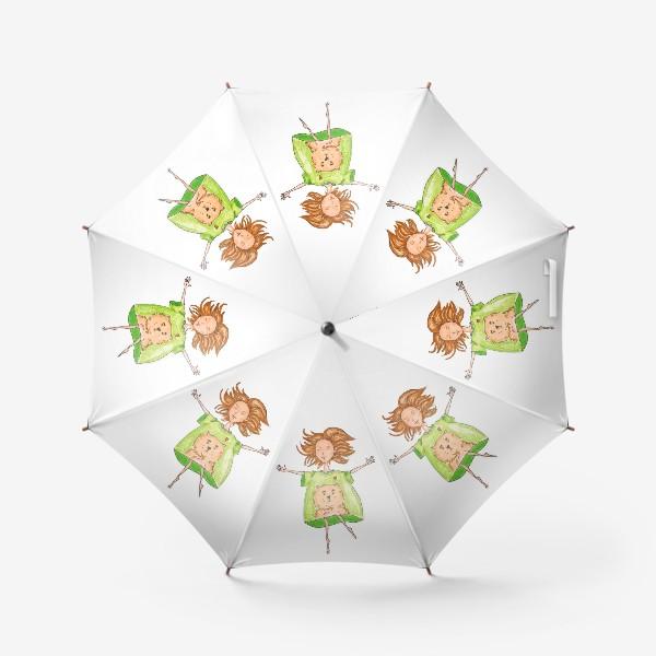 Зонт «любительница котиков»