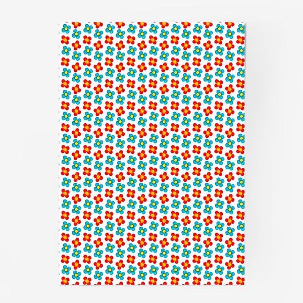 Постер «Паттерн веселые мелкие цветы»