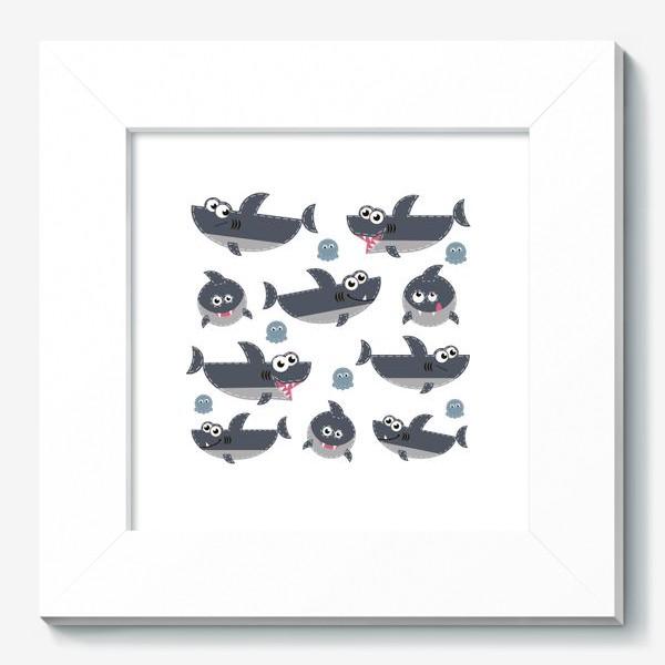 Картина «Акулы веселые и забавные»