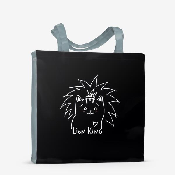 Сумка-шоппер «Король Лев. Ласковый и нежный зверь.»