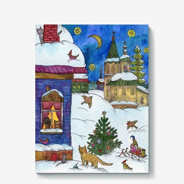 Холст «Зимняя сказка»