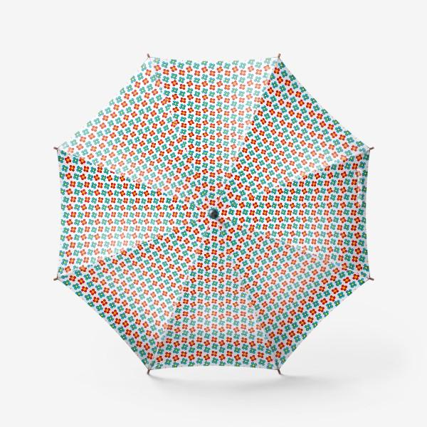 Зонт «Паттерн веселые мелкие цветы»