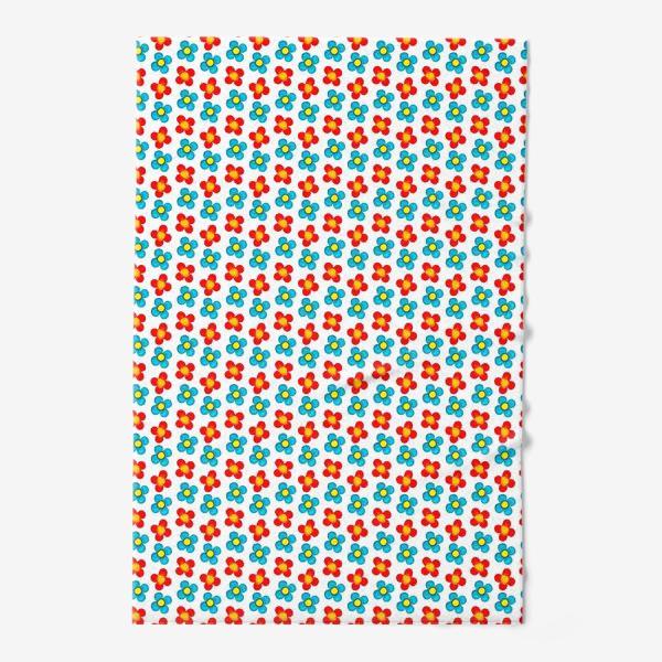 Полотенце «Паттерн веселые мелкие цветы»