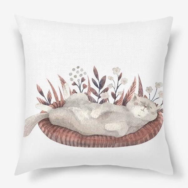 Подушка «Спящий котик»