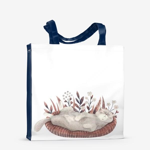 Сумка-шоппер «Спящий котик»