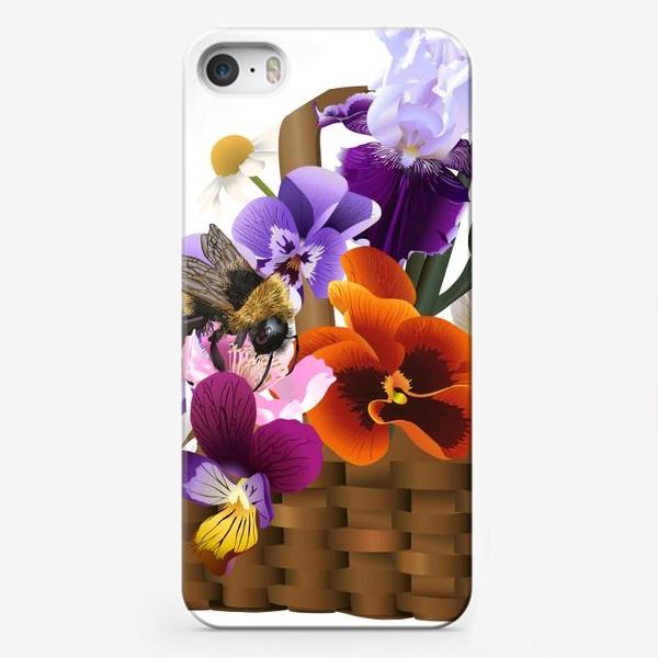 Чехол iPhone «Корзинка с цветами»