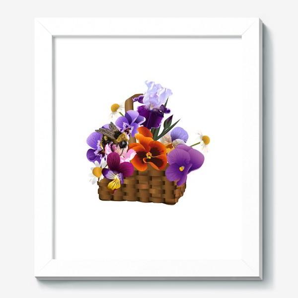 Картина «Корзинка с цветами»