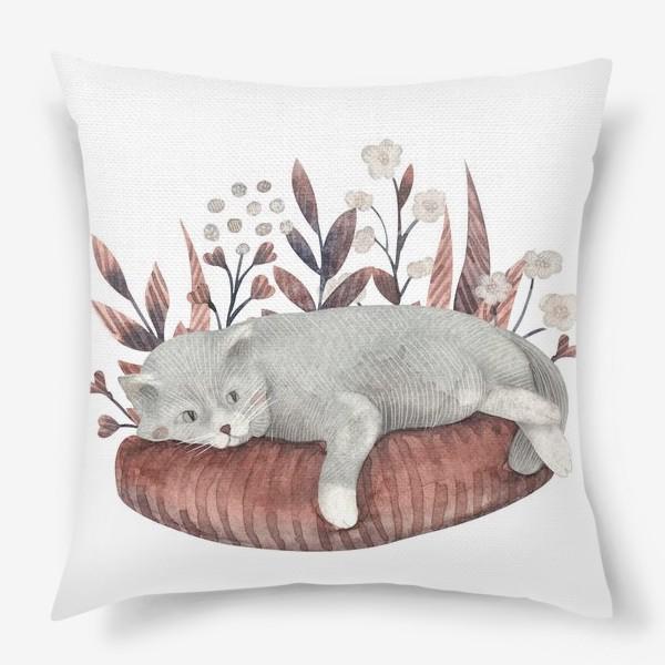 Подушка «Отдыхающий котик»