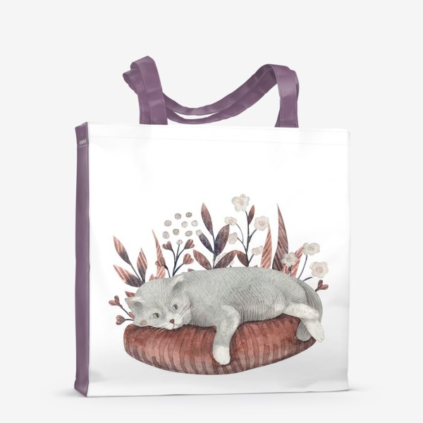 Сумка-шоппер «Отдыхающий котик»