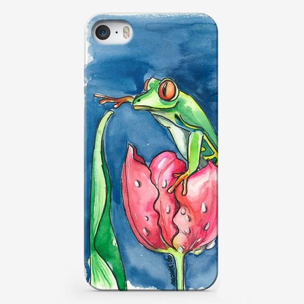 Чехол iPhone «Лягушка и тюльпан»