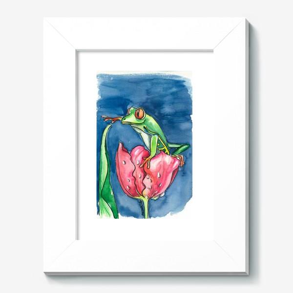 Картина «Лягушка и тюльпан»