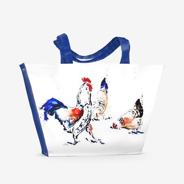 Пляжная сумка «Петухи»