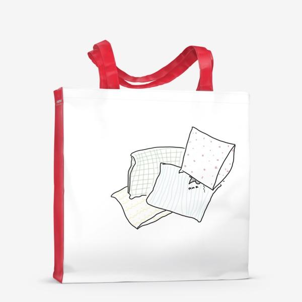 Сумка-шоппер «Напуганная мышь в подушках. Пик...»