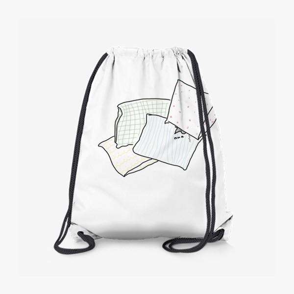 Рюкзак «Напуганная мышь в подушках. Пик...»