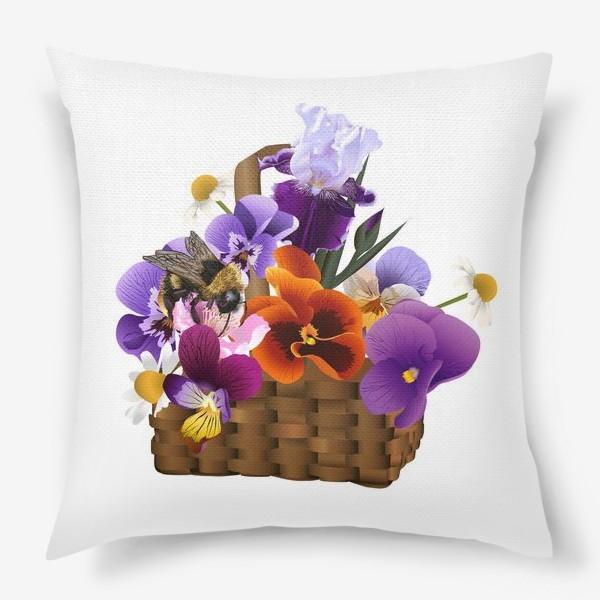 Подушка «Корзинка с цветами»