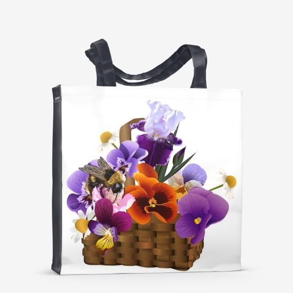 Сумка-шоппер «Корзинка с цветами»