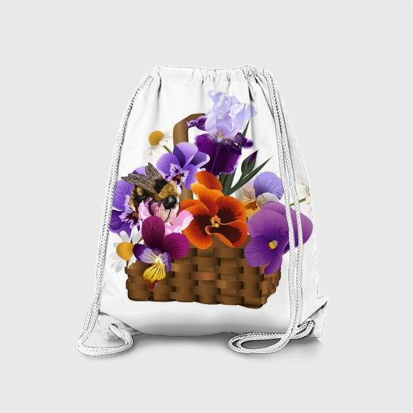 Рюкзак «Корзинка с цветами»