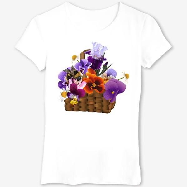 Футболка «Корзинка с цветами»