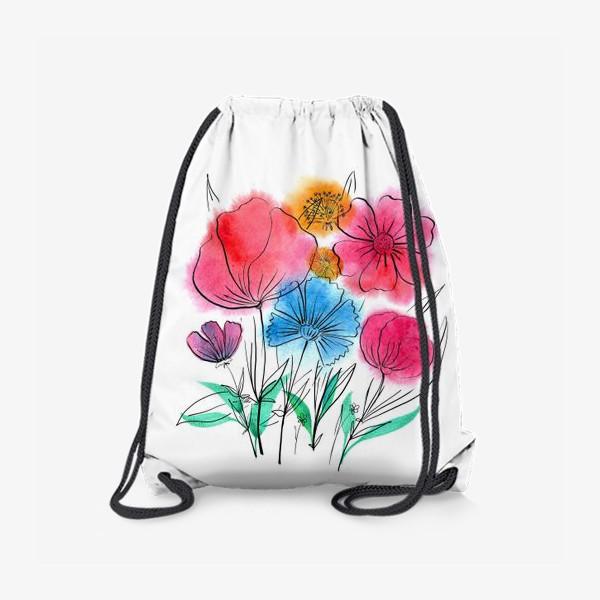 Рюкзак «Букет с васильком»