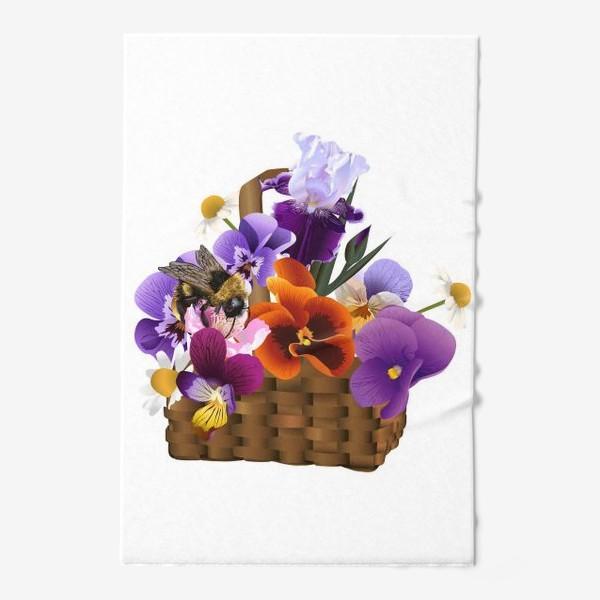Полотенце «Корзинка с цветами»