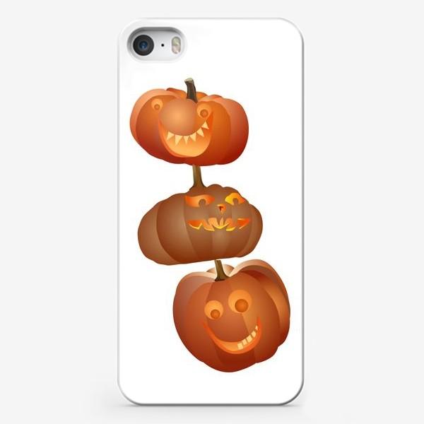 Чехол iPhone «Хэллоуин, тыквы»