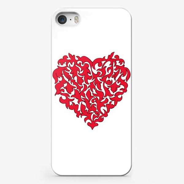Чехол iPhone «Красное сердце.»