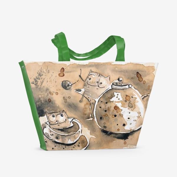 Пляжная сумка «Кофе пауза»