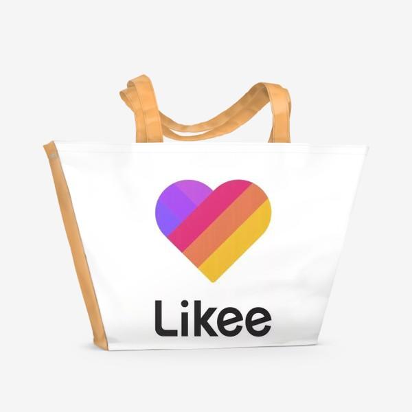 Пляжная сумка «Likee Like Лайки Лайк»