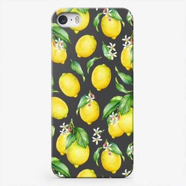 Чехол iPhone «Паттерн с лимонами»