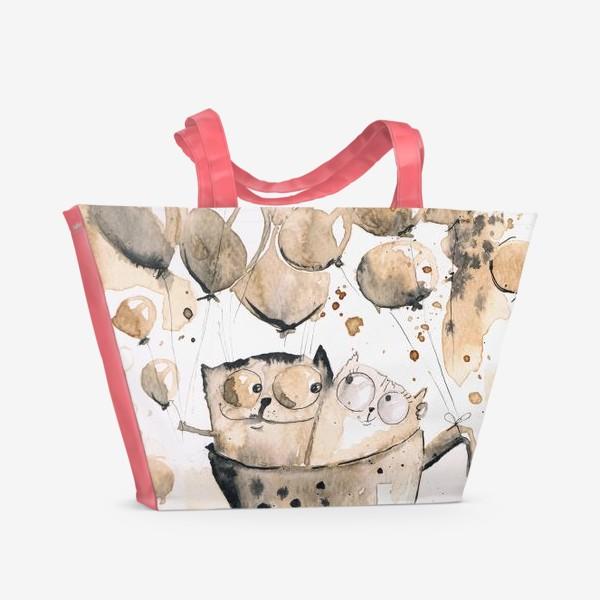 Пляжная сумка «Кофейная любовь»