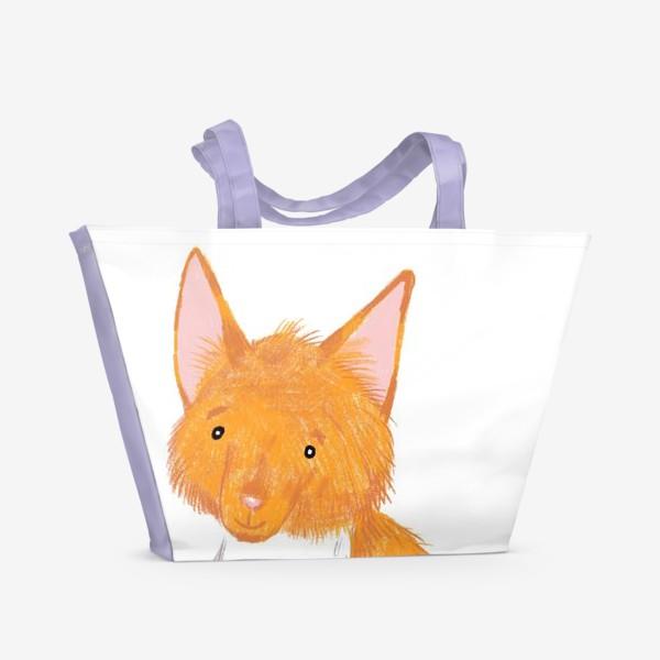 Пляжная сумка «Милый лисёнок»