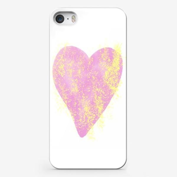 Чехол iPhone «Розовое сердце»