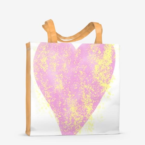 Сумка-шоппер «Розовое сердце»