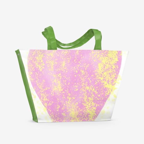 Пляжная сумка «Розовое сердце»