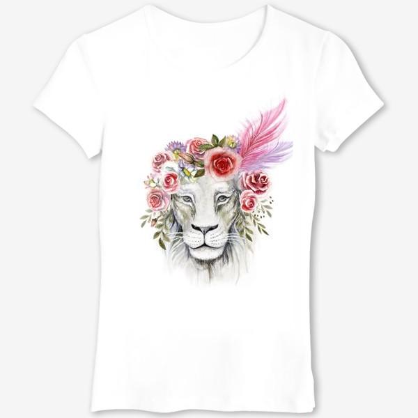 Футболка «Белая львица»