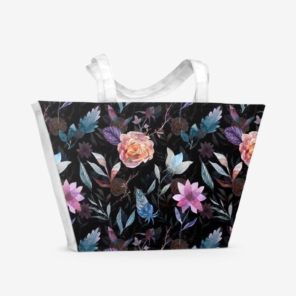 Пляжная сумка «Night flowers»