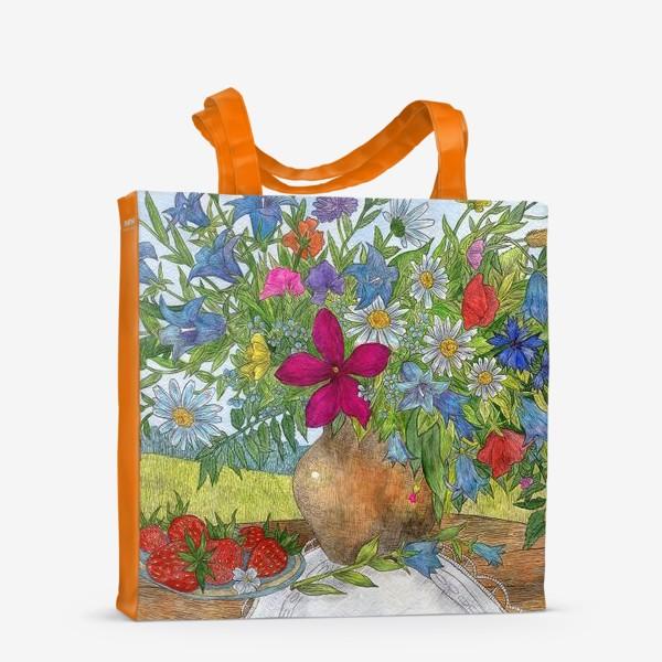 Сумка-шоппер «Букет полевых цветов»