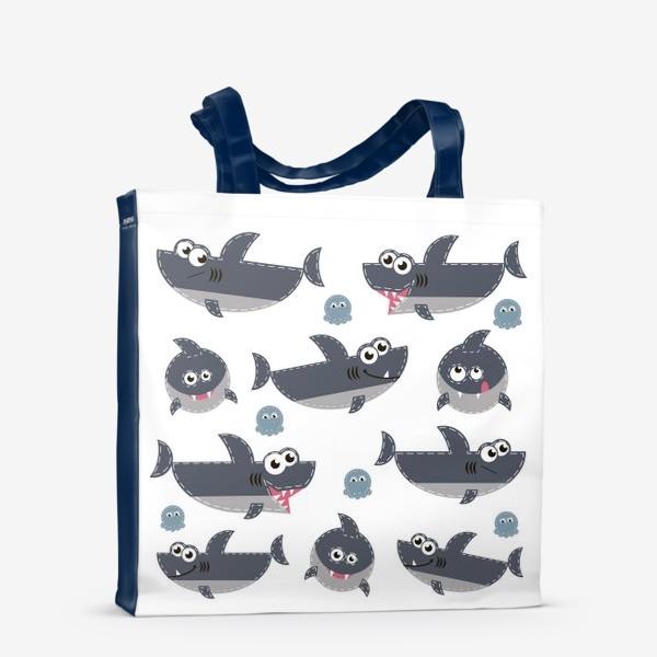 Сумка-шоппер «Акулы веселые и забавные»